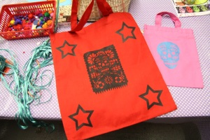 Bags printed with Day Of The Dead designs