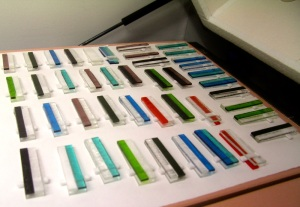 fused glass in the kiln