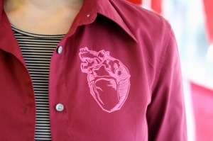 Shirt printed with a heart
