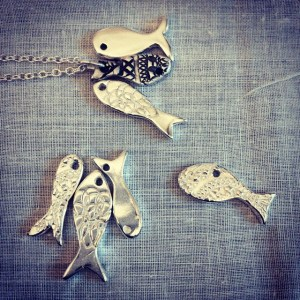 silver clay fish by Sara Wordley