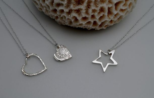 Silver clay jewellery by Sara Wordley
