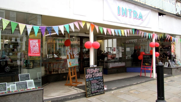 INTRA shop front during open studios