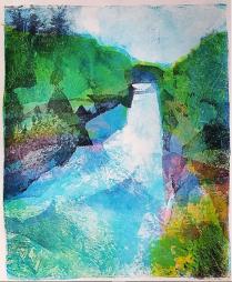 Kristiina Sandoe - Gelli Print 'Huka Falls, near Taupo'